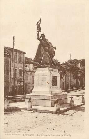 """CPA FRANCE 11 """"Leucatte, La statue de Françoise de Cezelly""""."""