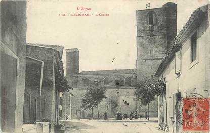 "CPA FRANCE 11 ""Lézignan, L'église""."