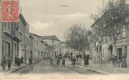 "CPA FRANCE 11 ""Lézignan, Boulevard Chateaudun""."