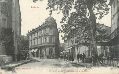"CPA FRANCE 11 ""Lézignan, Le comptoir d'Escompte""."