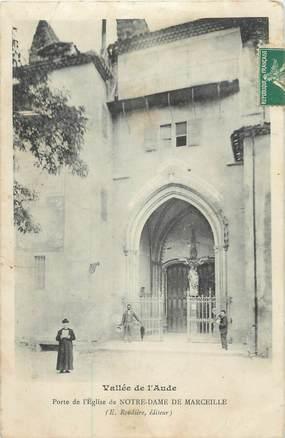 """CPA FRANCE 11 """" Limoux, Porte de l'église de Notre Dame de Marceille""""."""