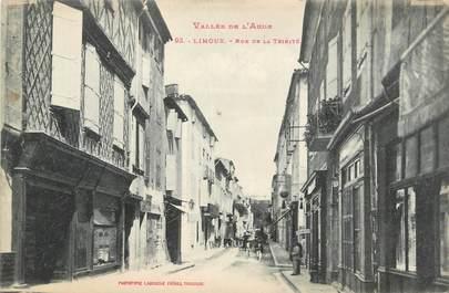 """CPA FRANCE 11 """" Limoux, Rue de la Trinité""""."""