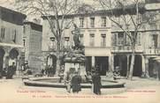 """11 Aude CPA FRANCE 11 """" Limoux, Fontaine monumentale sur la place de la république""""."""