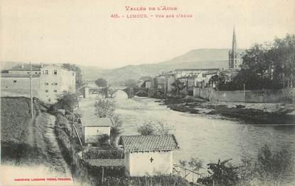 """CPA FRANCE 11 """" Limoux, Vue sur l'Aude""""."""