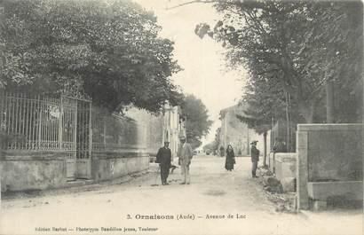 """CPA FRANCE 11 """" Ornaisons, Avenue du Luc""""."""