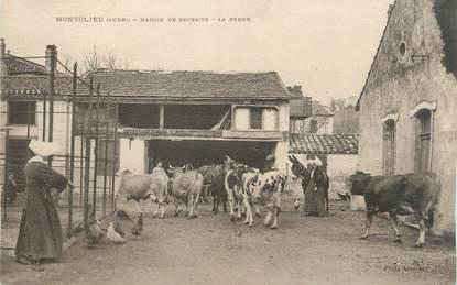 """CPA FRANCE 11 """" Montolieu, Maison de retraite, la ferme""""."""