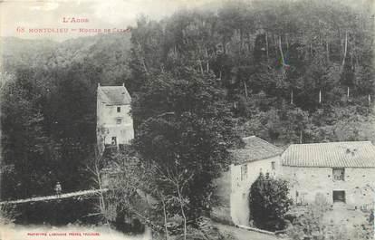 """CPA FRANCE 11 """" Montolieu, Le moulin de Catala""""."""