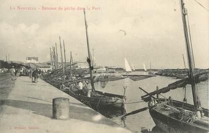 """CPA FRANCE 11 """"Port la Nouvelle, Bâteaux de pêche dans le port"""""""