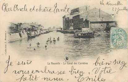 """CPA FRANCE 11 """"Port la Nouvelle, Le canal des carrières"""""""