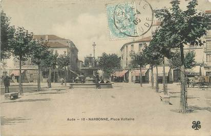 """CPA FRANCE 11 """"Narbonne, Place Voltaire"""""""