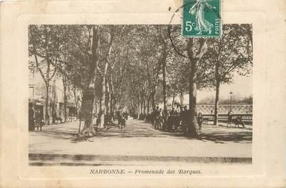 "CPA FRANCE 11 ""Narbonne, Promenade des Barques"""