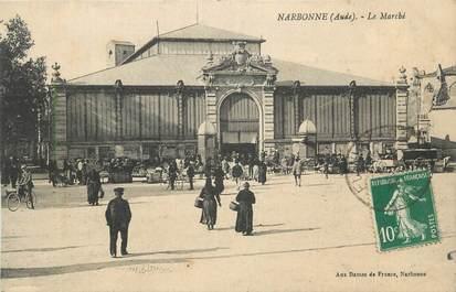 """CPA FRANCE 11 """"Narbonne, Le marché""""."""