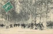 """11 Aude CPA FRANCE 11 """"Narbonne, La promenade des barques""""."""