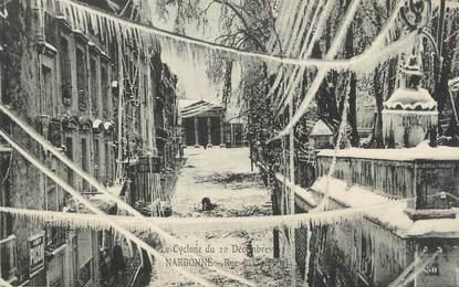 """CPA FRANCE 11 """"Narbonne, Le Cyclone du 20 décembre 1920""""."""