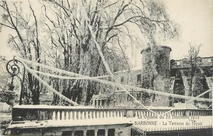 """CPA FRANCE 11 """"Narbonne, Le Cyclone du 20 décembre 1920, La terrasse du musée"""""""