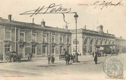 "CPA FRANCE 11 ""Narbonne, La gare"""