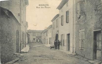 "CPA FRANCE 11 "" Ribaute, Rue des fleurs"""