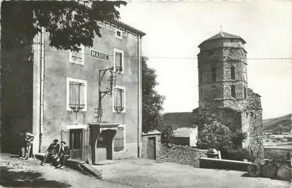 """CPSM FRANCE 11 """"Pradelles - Cabardès, La Mairie et l'église""""."""