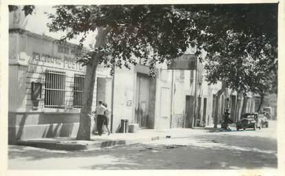 """CPSM FRANCE 11 """"Rieux - Minervois, Rue Cros, Hôtel des Postes""""."""