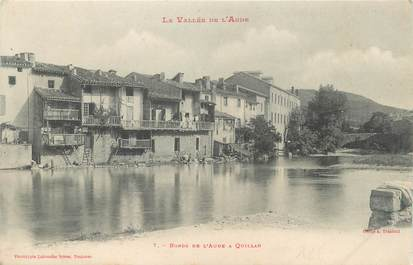 """CPA FRANCE 11 """"Quillan, Les bords de l'Aude""""."""
