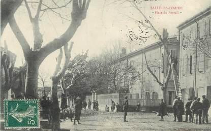 """CPA FRANCE 11 """"Sallèles d'Aude, Place du Portail""""."""