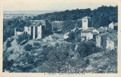 """CPA FRANCE 11 """"Saissac, Eglise et château """"."""