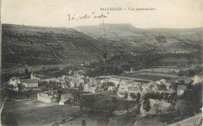 """CPA FRANCE 11 """"Sallèles d'Aude, Vue panoramique""""."""