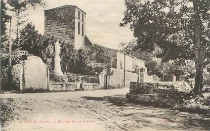 """CPA FRANCE 11 """"St Denis, L'église et la vierge""""."""