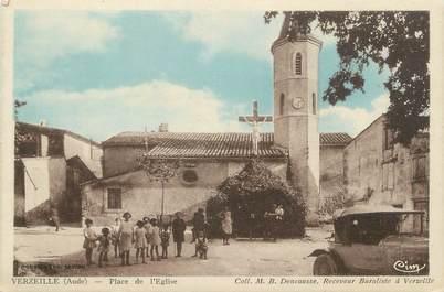 """CPA FRANCE 11 """"Verzeille, Place de l'église""""."""
