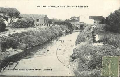 """CPA FRANCE 17 """" Châtelaillon, Le canal des Boucholeurs""""."""