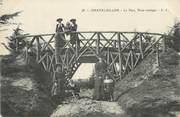 """17 Charente Maritime CPA FRANCE 17 """" Châtelaillon, Le parc, pont rustique""""."""