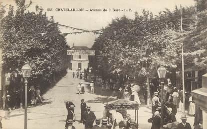 "CPA FRANCE 17 "" Châtelaillon, Avenue de la gare""."