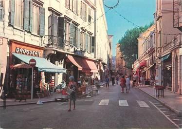"""CPSM FRANCE 06 """" Menton, Rue piétonne""""."""