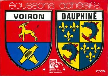 """CPSM FRANCE 38 """"Voiron"""" / ÉCUSSON ADHESIF"""