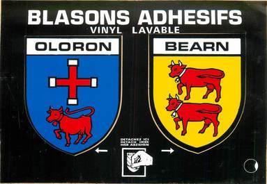 "CPSM FRANCE 64 ""Oloron"" / ÉCUSSON ADHESIF"