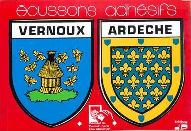 "CPSM FRANCE 07 ""Vernoux"" / ÉCUSSON ADHESIF"