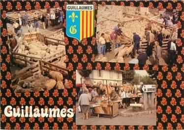 """CPSM FRANCE 06 """"Guillaumes, Marché aux ovins""""."""
