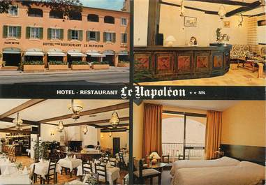 """CPSM FRANCE 06 """"La Turbie, Hôtel Restaurant Le Napoléon""""."""