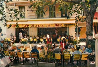 "CPSM FRANCE 06 "" Menton, Bar tabac Le Brazza""."