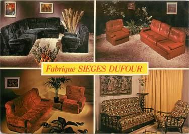 """CPSM FRANCE 06 """"Antibes, Publicité Fabrique des sièges Dufour""""."""