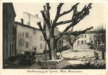 """CPSM FRANCE 06 """"Châteauneuf de Grasse, Place Clémenceau""""."""