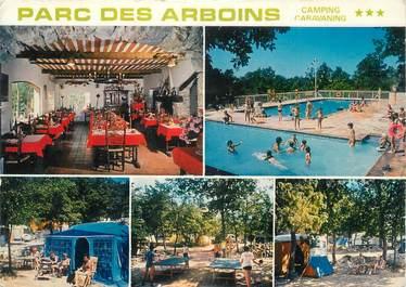 """CPSM FRANCE 06 """"St Vallier de Thiey, Camping du Parc des Arboins""""."""