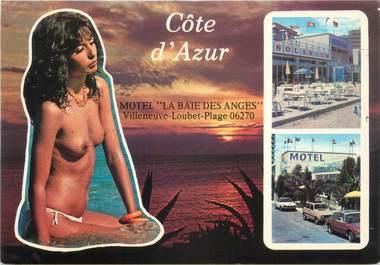 """CPSM FRANCE 06 """"Villeneuve Loubet, Motel la Baie des Anges"""". / NU"""