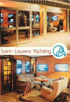 """CPSM FRANCE 06 """" St Laurent du Var, Publicité St Laurent Yachting""""."""