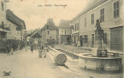 """CPA FRANCE 73  """"Yenne, Place Centrale"""""""