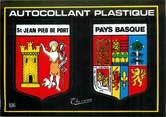 """64 PyrÉnÉe Atlantique CPSM FRANCE 64 """"Saint Jean Pied de Port"""" / ÉCUSSON ADHESIF"""