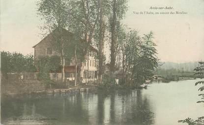 """CPA FRANCE 10 """"Arcis sur Aube, vue de l'Aube, en amont des Moulins"""""""