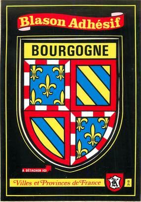 """CPSM FRANCE 89 """"La Bourgogne"""" / ÉCUSSON ADHESIF"""