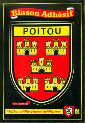 """CPSM FRANCE 86 """"Poitou"""" / ÉCUSSON ADHESIF"""
