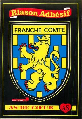 """CPSM FRANCE 39 """"La Franche Comté"""" / ÉCUSSON ADHESIF"""